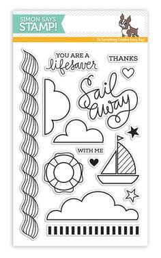 Simon Says Clear Stamps SAILING sss101535  zoom image
