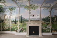 Great design to use with MagScapes magnetic wallpaper and custom magnets. Landscapes and Fantasy Murals - Dillon Murals