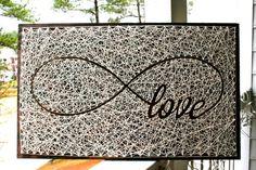 "26""x16"" Infinity Love Sign String Art | Love String Art | 5th Wedding…"