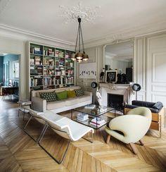 PARIS: CONTEMPORARY ART & FAMILY LIFE   Living room   milkmagazine