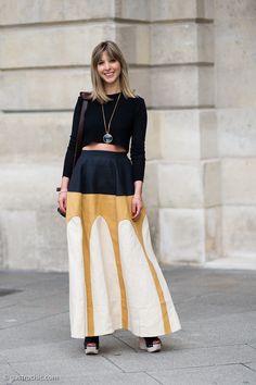 Crop Top and Maxi Skirt, Outside Schiaparelli