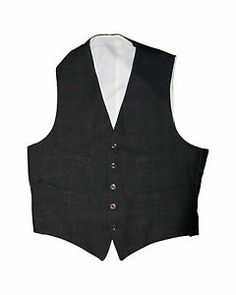 """VINTAGE COUNTRY GENT TAILORED RED BLACK WAISTCOAT 38"""" Chest"""