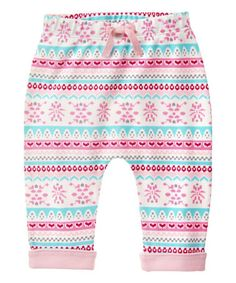 Another great find on #zulily! Rose Shadow Fair Isle Drop Waist Leggings - Infant #zulilyfinds