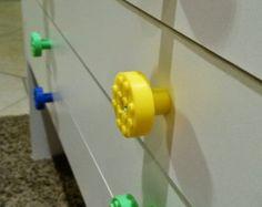 Set of 4 Build-On Brick Knobs