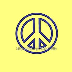 Peace Symbol Embroidery Design - 5 Sizes - INSTANT DOWNLOAD   This design manually made by hand, from start to finish. It is a digitized embroidery design for a buyer who has an embroidery sewing machine.  https://www.etsy.com/listing/504798985/peace-sign-symbol-embroidery-design-5  #stitch #digitized #Sewing #Needlecraft #stitches #Embroidery #Applique #EmbroideryDesign #pattern #MachineEmbroidery #Peace #Symbol #Sign