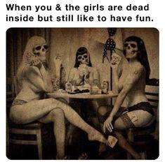 Dead Still, Creepy Horror, Dead Inside, Real Friends, Feel Good, Humor, Funny, Movie Posters, Painting