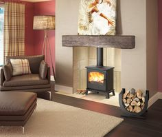 Enjoy the flames to the full with the broad arched window of the HEREFORD 7 MULTIFUEL