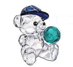 Kris Bear - Lets Play Ball.  Swarovski Crystal Figurine.