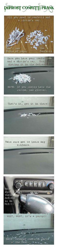 Defrost Confetti Prank