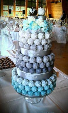Tarta de cake.pops con efecto de color degradado. ¡Un capricho muy dulce!