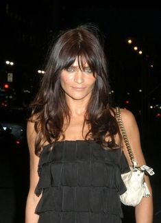Helena Christensen - style icon for like ever! love her hair here! so shiny!