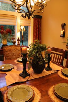Tuscan Style in the Dining Room