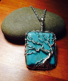 Turquoise Wire Wrapped Tree of Life by TheWayfaringMuse on Etsy
