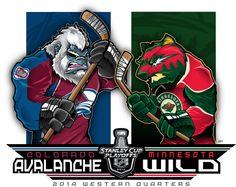 2014 NHL Playoffs Rd 1 Avs vs. Wild by Epoole88