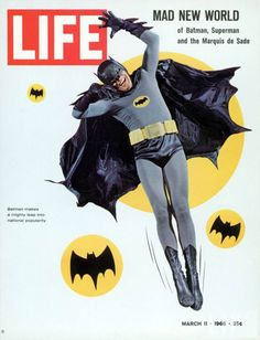 LIFE Magazine Cover with Adam West/BATMAN (March 1966)