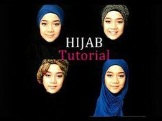 4 Hijab Tutorials - Long Scarf