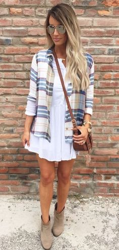 Cute transitional outfit from Summer to Fall.