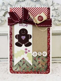 Whipping Up Scent-sational Cards Challenge - Gingerbread Card by Melissa Phillips for Papertrey Ink (August 2013)