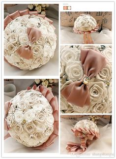 Newest Wedding Bouquets Luxury Artificial Roses With Beaded Flowers Cute Bow First Class Quality Brides Bouquets Sh140925 Vintage Wedding Flowers Wedding Hair Flowers From Shangshangxi, $27.23| Dhgate.Com