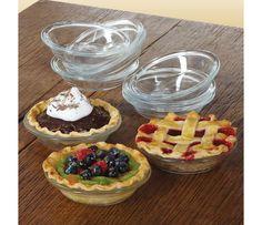 Libbey Glass Just Baking Mini Pie Plate Set, 10-piece   CHEFScatalog.com