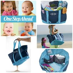 Family Beach Bag: Designed by OSA!  $24.95 The biggest, best-organized beach bag! Our workhorse beach tote holds everything your family will need for a day at the beach—toys, towels, we do mean everything—and its 10 clever compartments keep it all at your fingertips. Water-resistant, with Sand-Away mesh corners (just shake the sand out before you go home!). Loaded with thoughtful features: key tether, wet bag, zippered security top. Personalize it too!