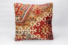 Kilim Cushion Cover, Kilim Pillow Cover 16x16 inch( 40 x 40 cm) by KilimArtShop on Etsy