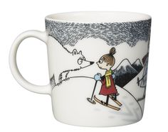 Moomin mug 2014 winter Moomin Mugs, Moomin Valley, Tove Jansson, Helsingborg, Little My, Winter Holidays, Natural History, Finland, Skiing