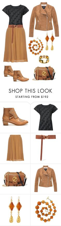 """""""Pre-Fall Look"""" by karen-galves on Polyvore featuring Sophia Webster, Pleats Please by Issey Miyake, Gestuz, rag & bone, Chloé, Marc New York, Devon Leigh, Valentin Magro and Lalique"""