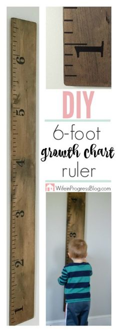 What a fun idea! This 6 ft life size ruler is the perfect growth chart for my kid's bedroom! And only $25 to make? That's awesome!