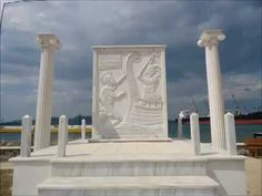 A monument in honor of the battle of Salamis in Eleusis ,Greece