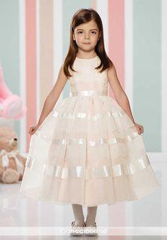Joan Calabrese by Mon Cheri 216309 Pink Flower Girl Dress