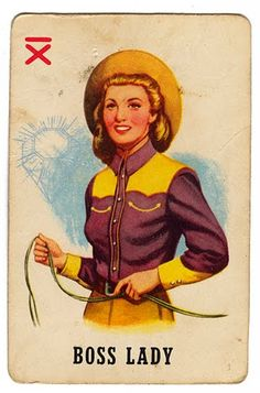 Boss Lady / Wester / Country & Western / Retro Vintage / Vintage Fashion / 50s / feminism  )