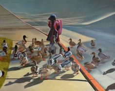 "Saatchi Art Artist Thu Nguyen; Painting, ""Leader and Followers"" #art"