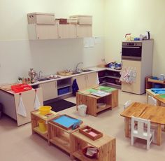 Montessori School of Moscow, Toddler Classroom - Practical Life area.