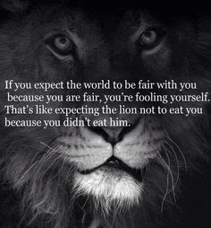 Life isn't fair and the sooner you accept that, the better off you'll be