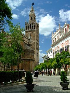 Giralda tower, Seville, Spain #bikefriendlycity #sevilla #welovecycling