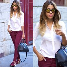 Comptoir Des Cotonniers Shirt, Current Elliott Jeans, Zara Bag, New Balance Sneakers, Marc By Marc Jacobs Sunglasses