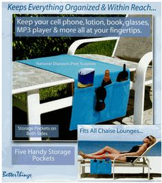 How to Sew a Beach and Pool Chaise Organizer