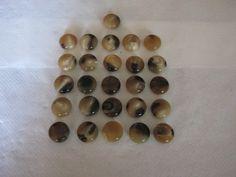 25 Stück Büffelhornknöpfe mit Öse,Bunt,Pastille,Durchmesser ca.22 mm,Neu,Naturprodukt,Lübecker Knopfmanufaktur von Knopfshop auf Etsy
