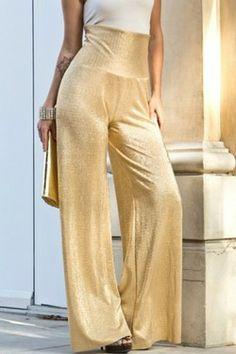 Gold Metallic Pants - $29.99