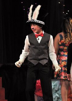 McGee Middle School production of Alice in Wonderland Jr. | White Rabbit