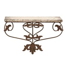 Woodland Imports Metal and Wood Wall Shelf    (31) SKU #: WLI1226 on Wayfair