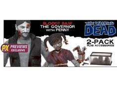 The Walking Dead Governor & Penny PX Exclusive 2-Pack