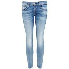 Womens Skinny Jeans Rag & Bone /JEAN Capri Light Blue Cropped Skinny... ($255) ❤ liked on Polyvore featuring jeans, skinny leg jeans, skinny capris, capri jeans, mid rise skinny jeans and blue jeans