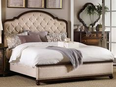 Shop this hooker furniture leesburg rich traditional mahogany king size panel bed from our top selling Hooker Furniture beds. LuxeDecor is your premier online showroom for bedroom furniture and high-end home decor. Hooker Furniture, Furniture Styles, Bedroom Furniture, Bedroom Decor, Bedroom Ideas, Bedroom Red, Classic Furniture, Design Bedroom, Dream Bedroom