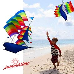 Have Fun this Summer with your Colouring Kite. #3D kite #rainbow kite #sailboat kite #summer kite #sailboat #kite