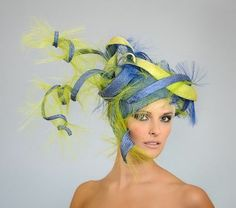 weird derby hats | Finally, my personal favorite in fug is this neon green and purple ...