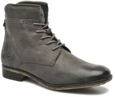 Men's Bugatti Simon F6735 Rounded toe Ankle Boots in Grey