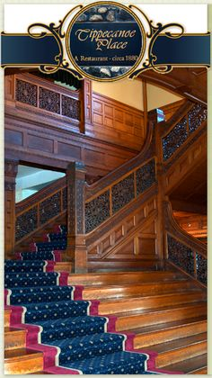 Grand entry staircase in the Studebaker Mansion, South Bend, IN