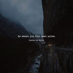 Go where you feel most alive. via (http://ift.tt/2s8bZ3M)